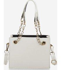 brief solid square crossbody handbag