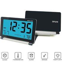 reloj digital/despertador/ alarma viaje lcd mini escritorio-