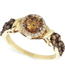 le vian chocolatier diamond (9/10 ct. t.w.) engagement ring in 14k gold