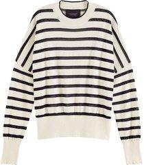 trui gestreept wit/zwart