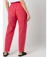 isabel marant women's enucie trousers - raspberry - fr 38/uk 10