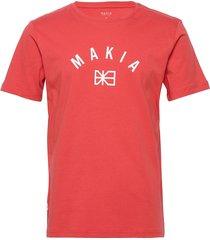brand t-shirt t-shirts short-sleeved röd makia