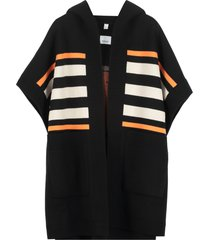 burberry wool and cashmere blend poncho