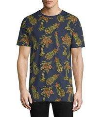 maxwell pineapple all over print graphic cotton t-shirt