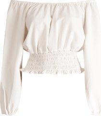 rut & circle blouse beige rut200227