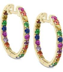 watercolors by effy multi-gemstone hoop earrings (1-3/4 ct. t.w.) in 14k gold