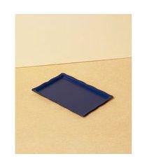 bandeja retangular - bandeja berolle cor: azul - tamanho: único