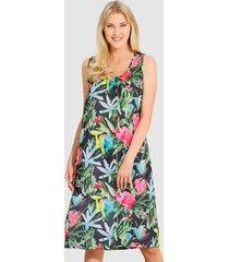 strandklänning schwab bademoden grön::cerise::svart