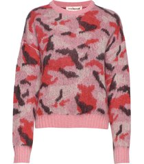 gina camouflage stickad tröja rosa custommade