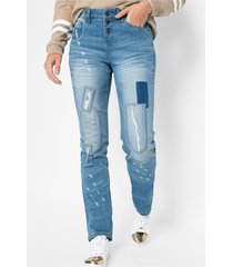 skinny jeans met patches
