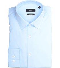 hugo boss overhemd isko blauw slim fit 50427541/452