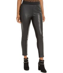 thalia sodi faux-leather-front leggings, created for macy's