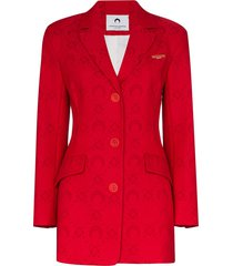 marine serre moonogram jacquard tailored blazer