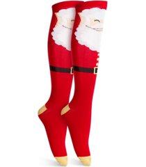 charter club santa knee-high socks, created for macy's