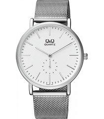 reloj para caballero elegante q&q qa96j201y plateado