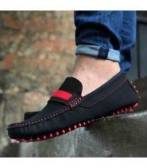 zapato mocasín reata - negro