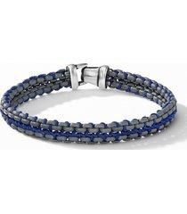 david yurman woven box chain bracelet, size medium in grey/blue at nordstrom