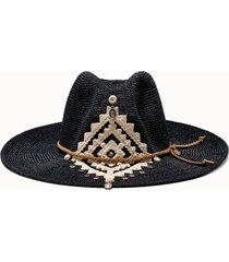 sparti cappello western geometria messicana e pendenti rosario