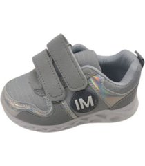 zapatillas gris velcro vinnys outlet