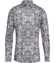 ancient paisley print twill shirt overhemd business multi/patroon eton