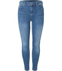 skinny jeans mid waist cropped fit
