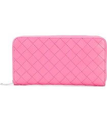 bottega veneta interwoven leather wallet - pink