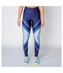 calça legging poliamida blue shades feminina água e luz