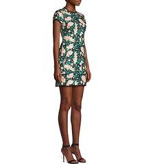 sonia floral sequin open back mini dress