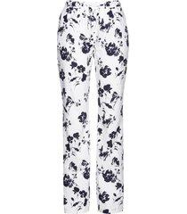 pantaloni in misto lino fantasia (bianco) - bpc selection