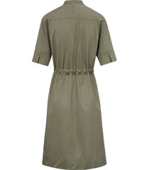 jurk met staand kraagje en knoopsluiting van bogner groen