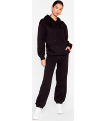 womens we're in this together hoodie and jogger set - black