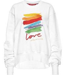 capsule sweatshirt, sweat-shirt trui wit tommy hilfiger