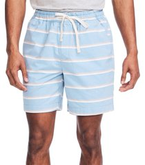 "nautica men's 7"" striped boardwalk shorts"