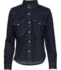 lmc s shrnkn dnm shirt lmc shr långärmad skjorta blå levi's made & crafted