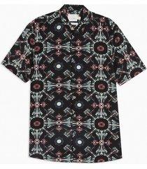 mens black baroque slim shirt