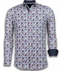 overhemd lange mouw tony backer blouse painted flower pattern