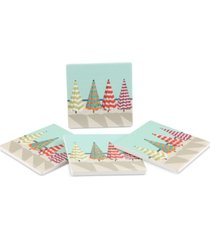 thirstystone beach umbrellas 4-pc. coaster set
