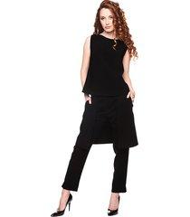 spodnie z zapaską czarne