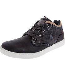 zapatos botas beverly hills polo club negro