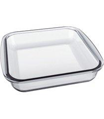 assadeira forno vidro marinex quadrada mã©dia 622201 - unico - feminino - dafiti