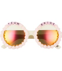 women's rad + refined team bride round sunglasses - pink/ orange mirrored