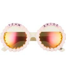 women's rad + refined team bride round sunglasses -