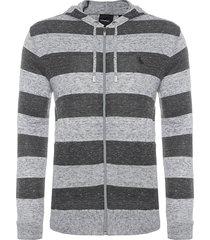 casaco masculino capuz - cinza