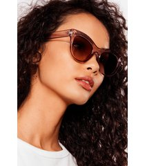 womens pink about it clear cat-eye sunglasses