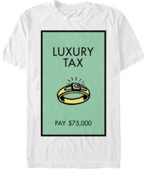monopoly men's luxury tax pay short sleeve t-shirt