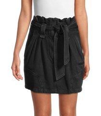 iro women's hovy paperbag mini denim skirt - black - size 34 (2)