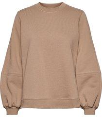 software isoli sweat-shirt trui beige ganni