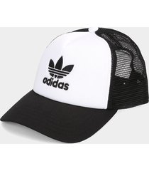 gorra blanco-negro adidas originals trucker,