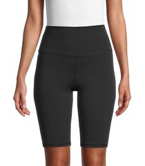 alice + olivia by stacey bendet women's aaron high-rise biker shorts - black - size xs