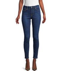 true religion women's jennie high-rise skinny jeans - dark blue - size 28 (4-6)